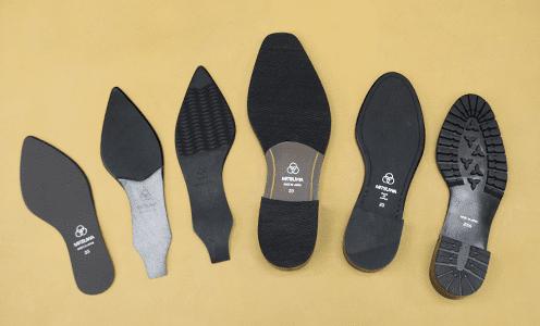 女性用のパンプスや男性用の革靴用の靴底を自社工場で生産しています。